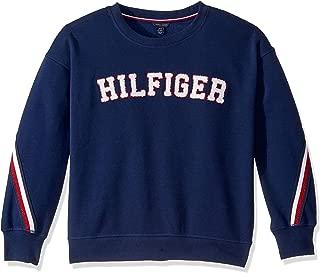 Tommy Hilfiger Girls' Fleece Crew Neck Pullover Sweater