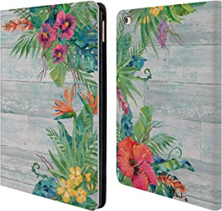 Official Paul Brent Island Floral Tropical Leather Book Wallet Case Cover Compatible for iPad Air 2 (2014)