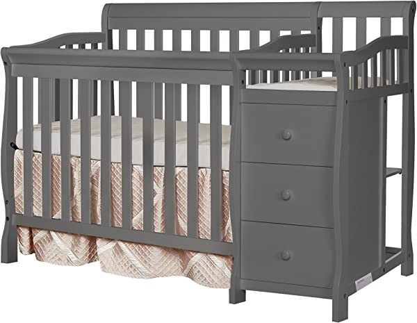 Dream On Me Jayden 4 In 1 Mini Convertible Crib And Changer