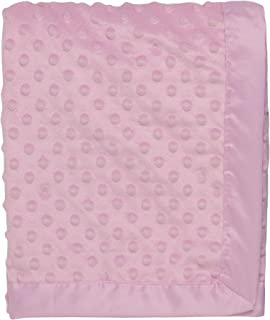 Baby Starters 2-Ply Silky Textured Dot Baby Blanket with Satin for Newborns and New Moms (Pink, 30