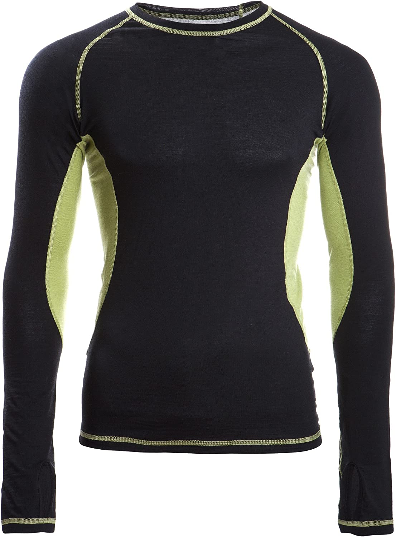 Engel-Sports Herren Shirt - langarm schwarz lime XL