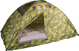 Pacific Play Tents 19780CAMOUFLAGE Kids HQ Camo Bed Tent Playhouse - Twin Size