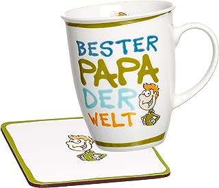 Ritzenhoff & Breker Best Mugs Coffee Mug, Cup, Motif: Bester Papa (Best Dad), Green, 24692