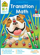 School Zone - Transition Math K-1 Workbook - 64 Pages, Ages 5 to 7, Kindergarten to 1st Grade, Comparing Numbers, Numbers 0-20, Patterns, and More (School Zone I Know It!® Workbook Series)