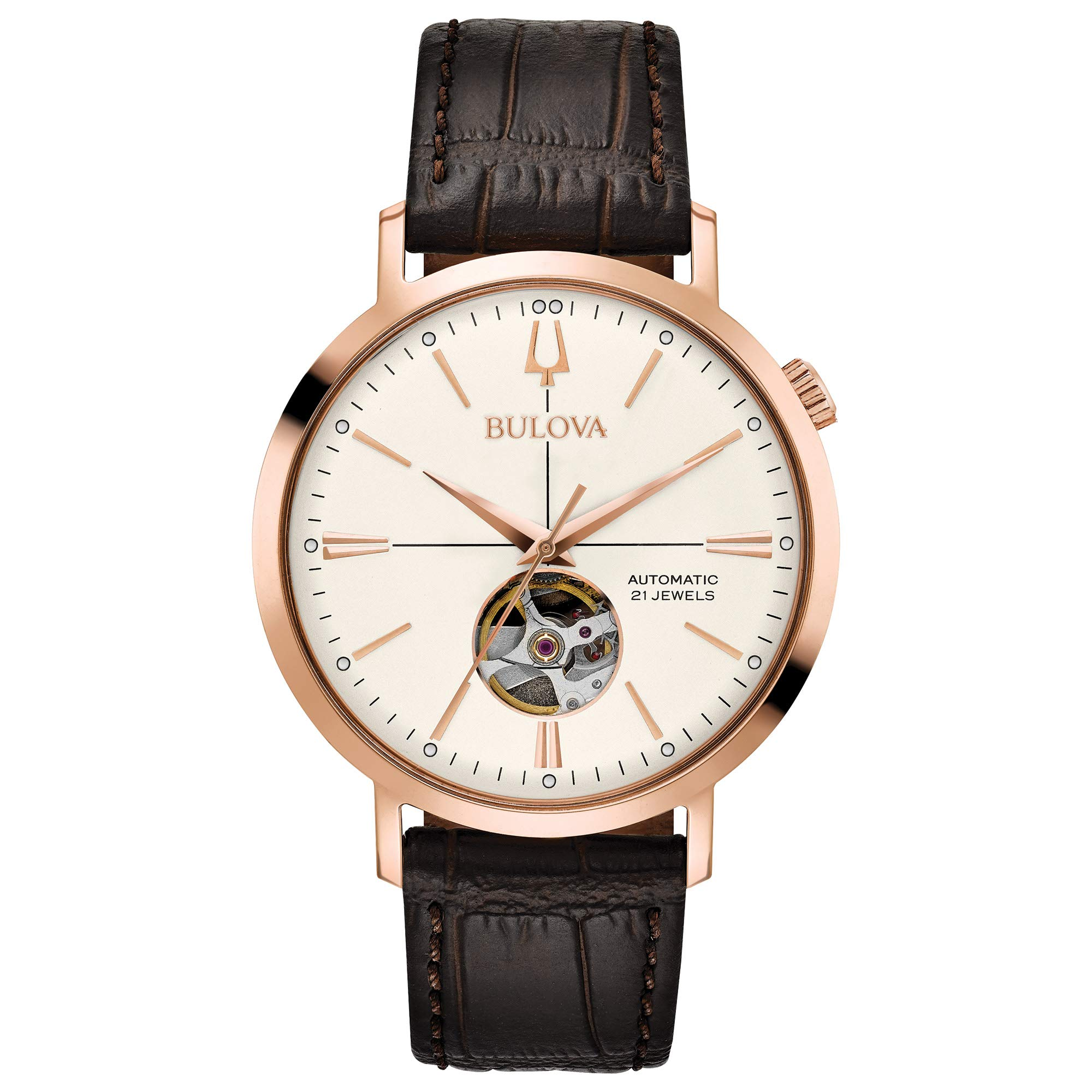 Bulova Classic Automatic Stainless Leather