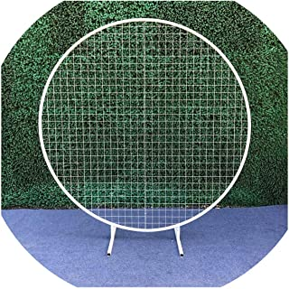 Beauty-inside-artificial-flowers Wedding Round Grid Circle Wedding Arch Background Grid for Wedding Birthday Party New Year Decoration Baby Shower Supplies,Diameter 1meter,White Circle Grid