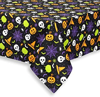 Cackleberry Home Witch's Brew Halloween Cotton Fabric Tablecloth, 60 Round