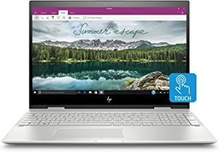 HP Envy X360 Convertible 15-Inch Touchscreen Laptop with Fingerprint Reader, Intel Core i7-8565U Processor, 8 GB SDRAM, 256 GB Solid-State Drive Storage, Windows 10 Home (15-cn1010nr, Natural Silver)