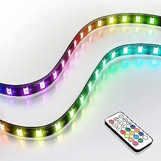 EZDIY-FAB アドレス指定可能なRGB LEDストリップ リモコン付き+ RGBスプリッターケーブル, マグネット付きRGB LEDストリップ, PCコンピューターケース用(ASUS Aura Sync およびMSI Mystic Lig...
