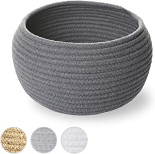 Small Cotton Rope Basket for Organizing & Decluttering - Gray 10