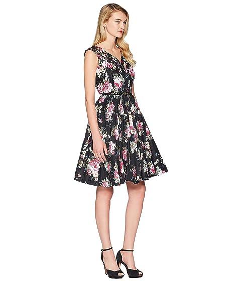 de negro columpio vestido floral oliva verde Único TzxBqwH