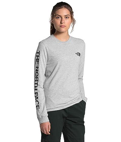 The North Face Brand Proud Long Sleeve Tee (TNF Light Grey Heather/TNF Black) Women