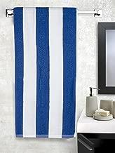 Turkish Bath Striped 400 GSM Cotton Bath Towel - Blue