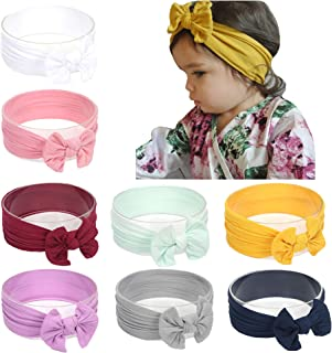 a3e84a290 inSowni Boutique Stretch Bow Ear Turban Headbands Set for Baby Girl  Toddlers Kids