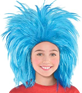Costumes USA Dr. Seuss Thing 1 and Thing 2 Wig for Adults, Halloween Costume Accessories, Blue, One Size