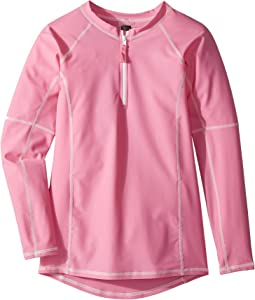 Toobydoo - Pink Rashguard w/ Long Sleeves (Infant/Toddler/Little Kids/Big Kids)