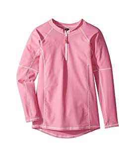 Pink Rashguard w/ Long Sleeves (Infant/Toddler/Little Kids/Big Kids)