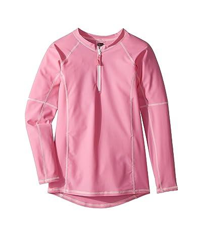 Toobydoo Pink Rashguard w/ Long Sleeves (Toddler/Little Kids/Big Kids) (Pink) Girl