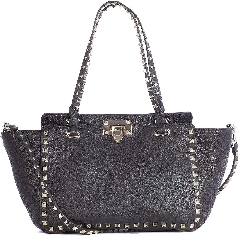 Valentino Damen Damen Damen RW2B0037VSF0NO Schwarz Leder Handtaschen B07N8KD7RW 92d409