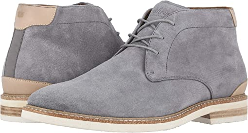 Gray Suede/White Sole