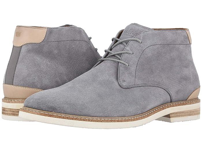 Florsheim  Highland Plain Toe Chukka Boot (Gray Suede/White Sole) Mens Shoes