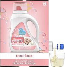 Dreft Stage 1: Newborn, Liquid Laundry Baby Detergent eco-Box, HE Compatible, 105 fl oz, 96 Loads