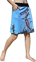 RaanPahMuang Short Skirt Two Pocket - Salvadore Dali - Burning Giraffe