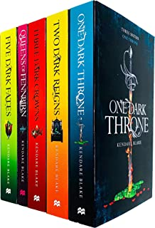 Three Dark Crowns Series 5 Books Collection Set By Kendare Blake (Three Dark Crowns, One Dark Throne, Two Dark Reigns, Que...