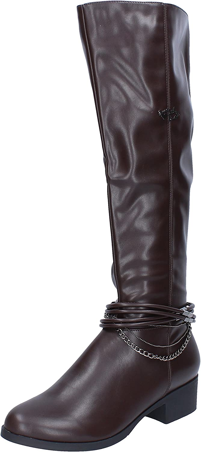Braccialini Boots Womens Leather Brown