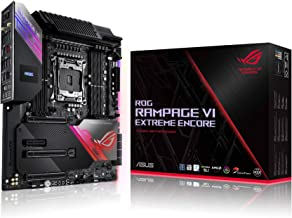 ASUS ROG Rampage VI Extreme Encore, X299 LGA 2066 E-ATX Gaming Motherboard for Intel Core X-Series Processors with Aura Sy...