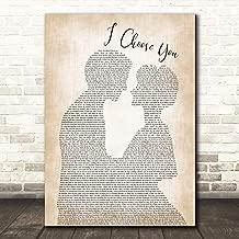 Ryann Darling Man Lady Bride Groom Wedding Song Lyric Gift Present Poster Print