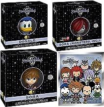 Star KH3 Kingdom Hearts III - Sora (Monsters, Inc.) 5 Game Stop Exclusive Bundled with + Donald Duck + Keyblade Sora Vinyl & Mini 3D Keychain Series Disney figure Collectible 4-Pack Disney Gear Bundle
