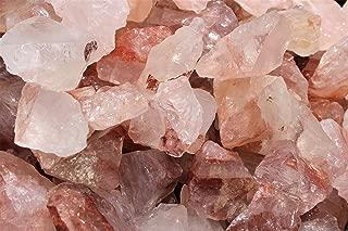 Rainbowrecords239 - Natural Rough Fire Quartz - 1/2 Lb Bulk Lots of Raw Stones, Rocks, Minerals for Tumbling, Cabbing, 8 Ounces