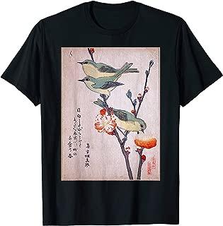 Japanese Art Birds on Peach Tree Blossom Japanese Woodblock