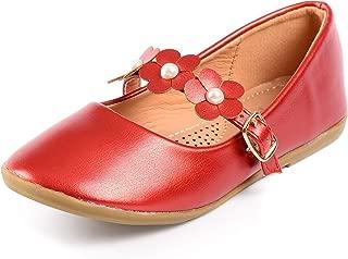 Nova Utopia Toddler Little Girls Flower Girl Dress Ballet Mary Jane Bow Flat Shoes