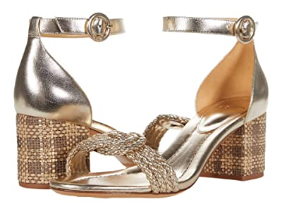 Alexandre Birman Braided Vicky 60 (Golden) Women