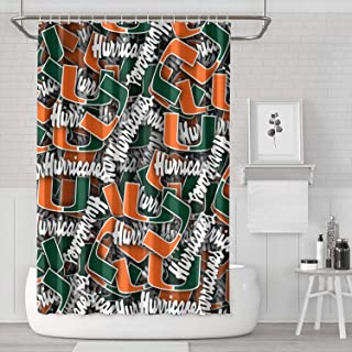 MoirlayClaphan Polyester Cloth Waterproof Shower Curtain with Removable Bathroom Curtain Showers Custom Dorm Room Curtain 72 X 72 Inch