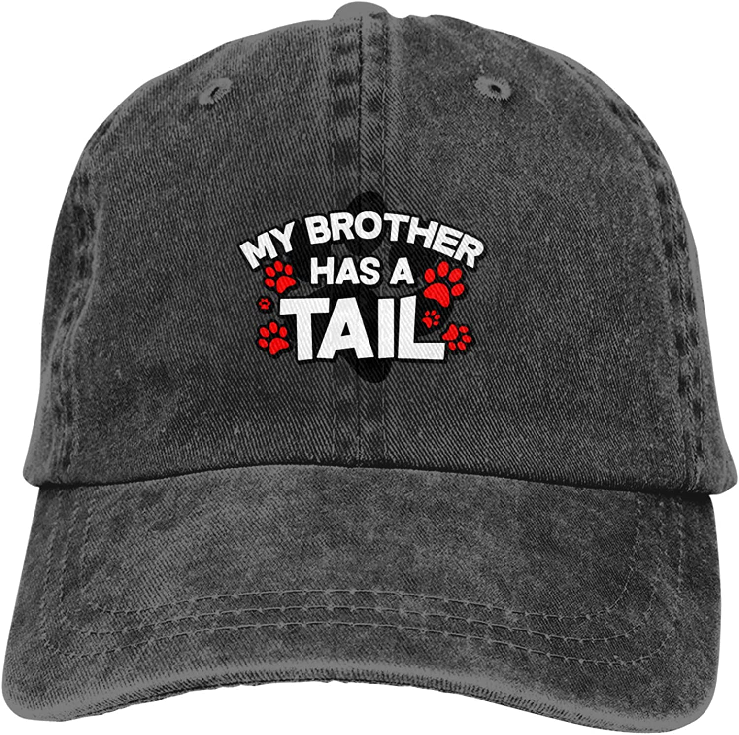 My Brother Has A Tail Unisex Adjustable Cowboy Hat Adult Cotton Baseball Cap