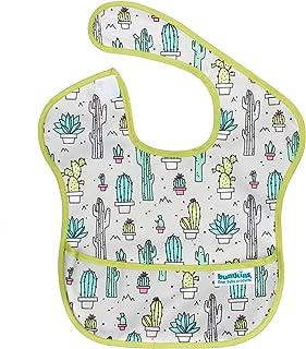 バンキンス 油が落ちるスタイ【日本正規品】スーパービブ 柔らかくて軽量 洗濯機で洗えてすぐ乾く お食事用防水ビブ 6~24ヶ月 Cacti(グレー) S-111