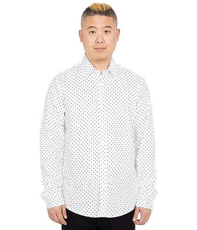 Michael Kors Long Sleeve Stretch Dot Print Shirt Men
