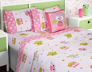 Nicole Miller Kids 3 Piece Twin Eiffel Tower Sheet Set for Girls 100/% Easy-Care Cotton Flannel