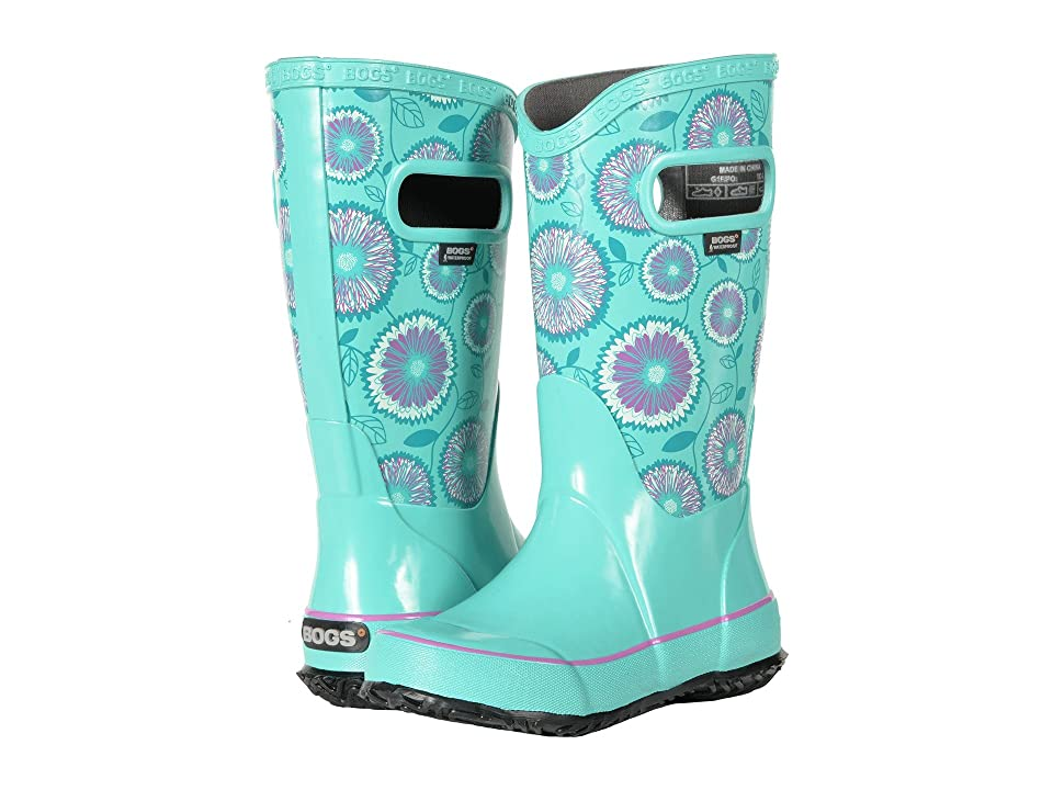 Bogs Kids Rain Boot Wildflowers (Toddler/Little Kid/Big Kid) (Turquoise Multi) Girls Shoes