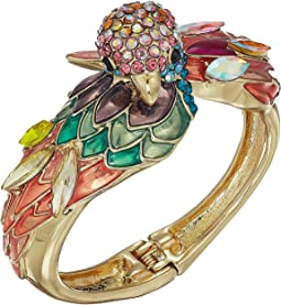 Multicolor Parrot Statement Hinge Bracelet