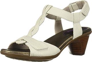 Aravon Women's Medici T Strap Sandal, Pearl, 6.5 D US