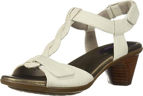 Aravon Medici Damen Sandalen mit T-Gurt, Keilriemen