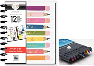 me & My Big Ideas Create 365 The Happy Planner Big Teacher: Influence of a Teacher 12 Month Planner, Aug 2019 - July 2020 Comes with Kemah Craft 10 pc Fineliner Color Pens (Bundle PLNA-22)