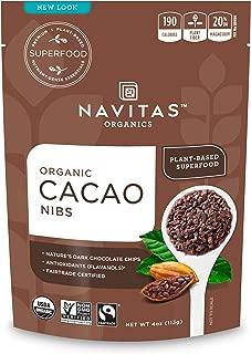 Navitas Organics Cacao Nibs, 4oz. Bag — Organic, Non-GMO, Fair Trade, Gluten-Free