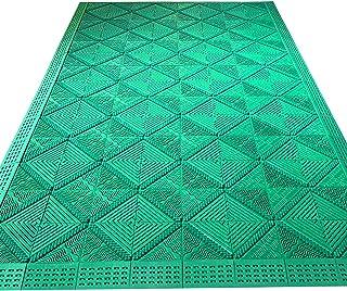 Felpudos Verde Impermeable Estera de La Puerta Entrada Resiste La Suciedad Alfombra, Durable Puerta Delantera/Trasera Pati...