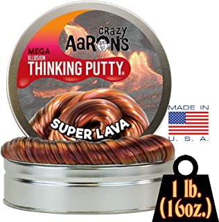 Crazy Aaron's Thinking Putty - Super Lava MEGA Tin - 1 LB Tin