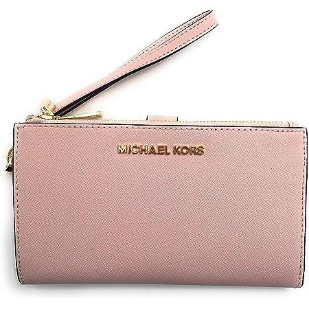 Michael Kors Jet Set Travel Double Zip Saffiano Leather Wristlet Wallet (Blossom)